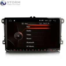 "Car multimedia 9"" Android 10.0 - 4core - 2GB RAM - 16GB ROM για VW - Seat - Skoda models"
