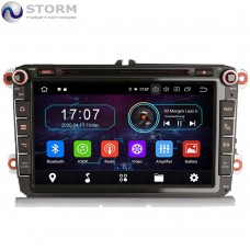 "Car multimedia 8"" Android 10.0 - 4core - 2GB RAM - 16GB ROM για VW - Seat - Skoda - models"