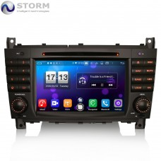 "Car multimedia 7"" Android 10.0 - 8core - 4GB RAM - 64GB ROM για Mercedes C, CLC, CLK"