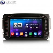 "Car multimedia 7"" Android 10.0 - 8core - 4GB RAM - 64GB ROM για Mercedes C, CLK, G, Viano, Vito"