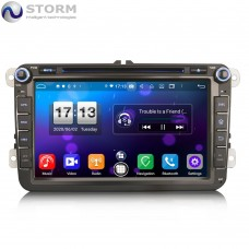 "Car multimedia 8"" Android 10.0 - 8core - 4GB RAM - 64GB ROM για VW - Seat - Skoda - models"